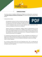 Convocatoria a Consulta Ciudadana de Ratificación de Mandato