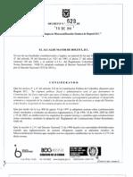 Decreto 523 de 2010 Microzonificacion Bogota