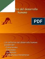 Defectos Del Desarrollo Humano ( Embriologia )