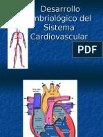 Desarrollo Embriologico Del Sistema Cardiovascular