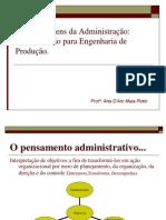Apresentação - Abordagens da Administração- Engenharia de Produção