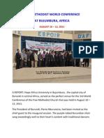 Report of the Free Methodist World Conference - Bujumbura - 2011