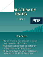 Estructura de Datos - Clase1