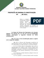 Proposta de Emenda Constitucional para voto distrital puro