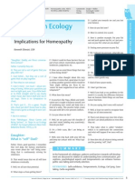 Steps to an Ecology of Self Implications for Homeopathy