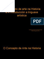 O Concepto de Arte Na Historia e a Introducción a Linguaxe