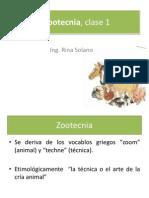 Zootecnia, clase 1
