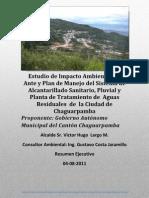 """Resumen Ejecutivo del Proyecto """"ALCANTARILLADO DE CHAGUARPAMBA"""""""