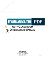 IAAK ActivClassroom Orientation Manual