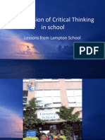 The Infusion of Critical Thinking Lessons From Lampton