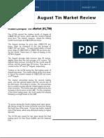 Malaysian Tin Bulletin-August '11