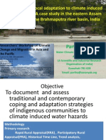 Understanding Local Adaptation to Climate Induced Water Hazards -Partha J Das, AARANYAK, India