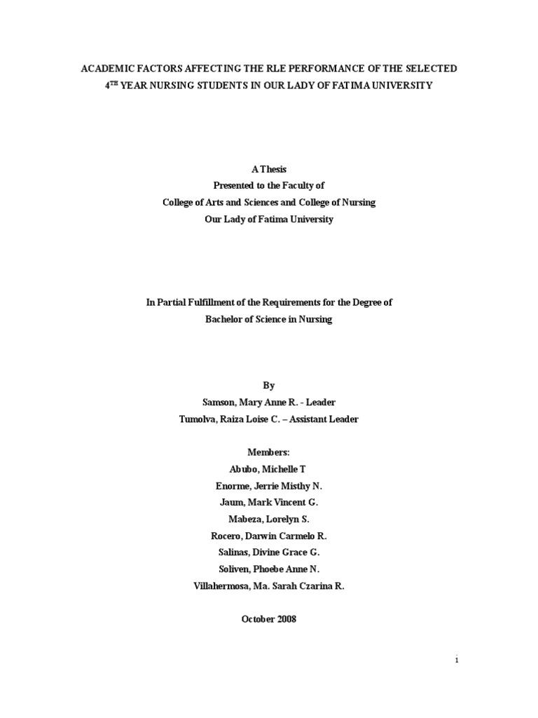 Bachelor degree dissertation