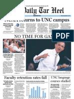 The Daily Tar Heel for September 15, 2011