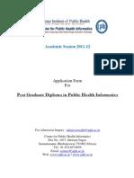 Admission Form CPHI 2011