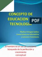 Concepto de Educacion en Tecnologia 3 Semestre