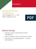 Managing Financial Intermediaries