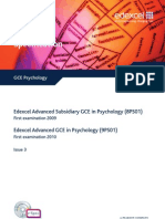 Psychology GCE Edexcel Spec