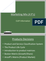 Marketing Mix (4 P's)