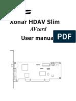 ASUS Xonar HDAV Slim UM Full Manual