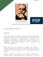 Cesar Lombroso - Hipnotismo e Mediunidade
