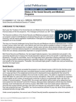 9-13-2011 Status of the Social Security and Medicare Programs Trustees Report Summary Actuarial Publication 2011
