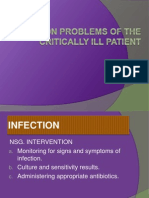Common Problems of the Critically Ill Patient