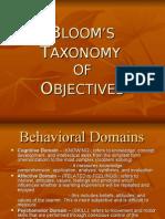 Teaching Strategies IV - Old Blooms Taxonomy