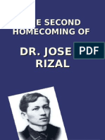 The Second Homecoming of Rizal-ireene