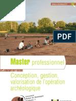Master Pro Conception Archeologie