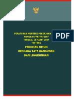 Pedoman Penyusunan RTBL Permen 6 Th 2007