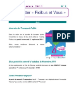 Newsletter N°3 - Septembre 2011