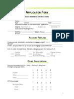 ShARE-IITB Application Form 2011