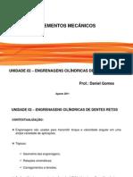 AULA 03 - Elementos Mecânicos - Unidade 02 - Engrenagens cilindrícas de dentes retos