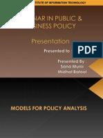 Public Policy Models