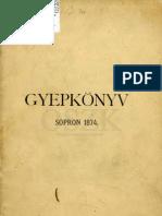 Gyepkönyv - Sopron 1874
