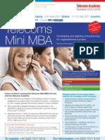 Telecoms Mini MBA Jun-Sept 2011