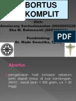 ABORTUS INKOMPLETE