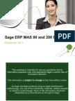 Sage ERP MAS 90 and 200 Roadmap September