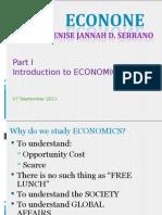 Econone Lecture 090711