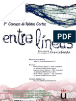 I Concurso de Relatos Cortos «Entre líneas»