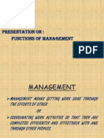 Functions of Mgmt