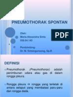 PNEUMOTHORAKS SPONTAN