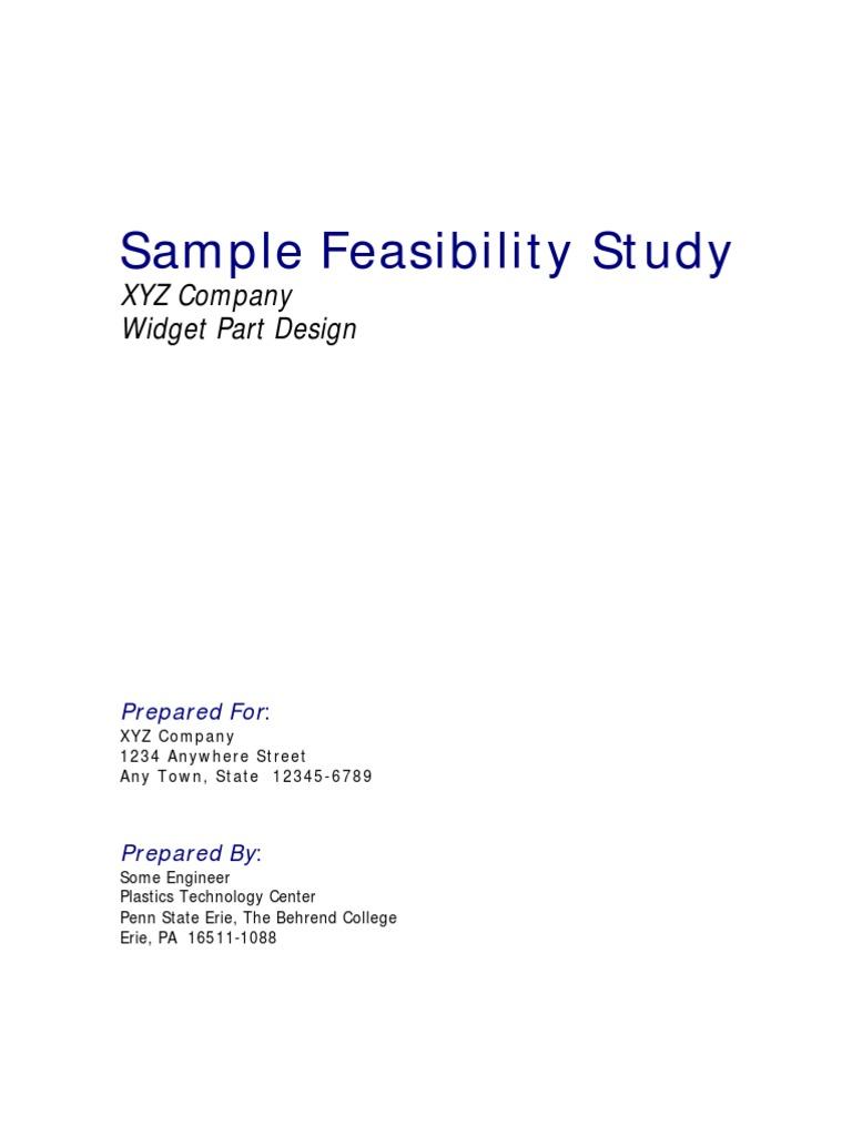 Technical aspects sample feasibility study Homework Academic Writing ...