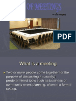 Types of Meeting