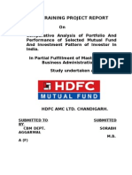 Final Project Report on HDFC Mutual Funds