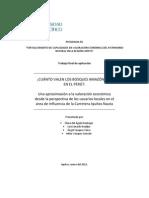 Valoracion Economica Del Patrimonio Natural Loreto