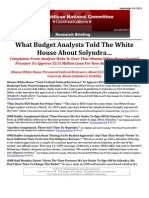 What Budget Analysts Told The White  House About Solyndra ...
