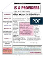 Payers & Providers California Edition – Issue of September 15, 2011