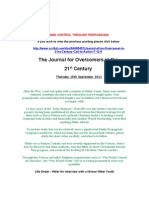 Journal of an Overcomer in 21st Century Call to Actionm 9 15.9.2011-2